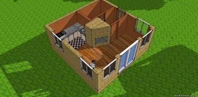 Дом 6х6 интерьеры